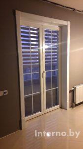 Оформление балконных дверей. Крашенный МДФ